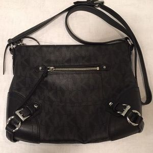 Michael Kors Black Monogram CrossbodyMessenger Bag